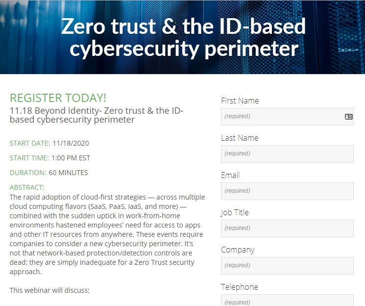Zero trust  and  the ID-based cybersecurity perimeter