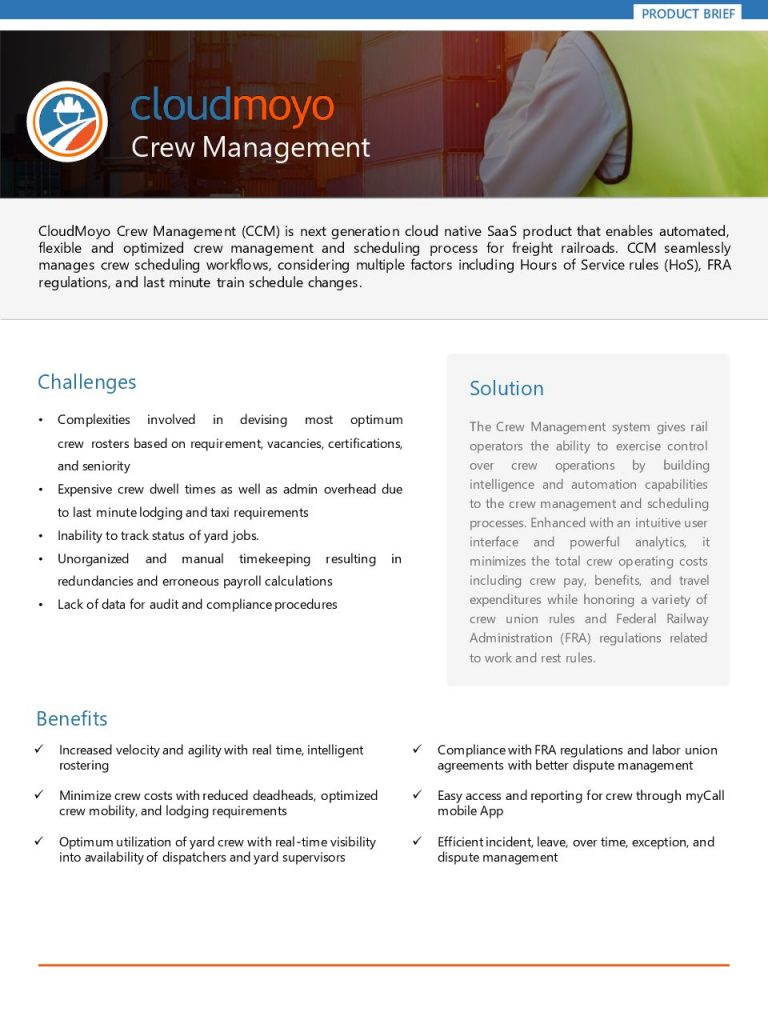Cloud Moyo Crew Management Product Brief