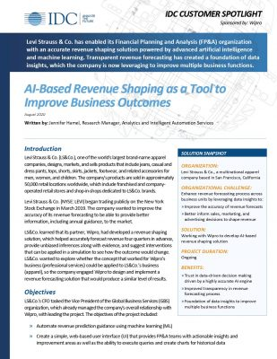 AI Based Revenue Shaping as a Tool to Improve Business Outcomes
