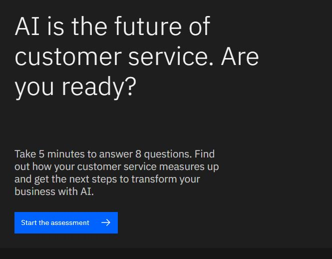 AI for Customer Service Assessment