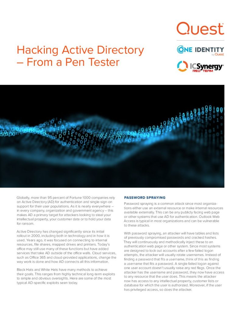 Hacking Active Directory – Security Lessons from a Penetration Tester