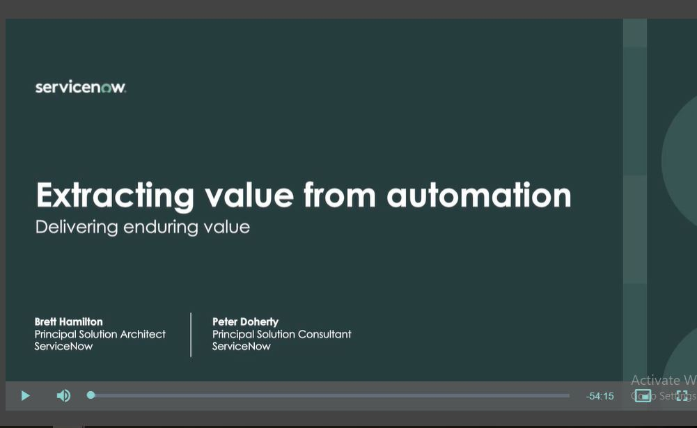 Extracting value from automation