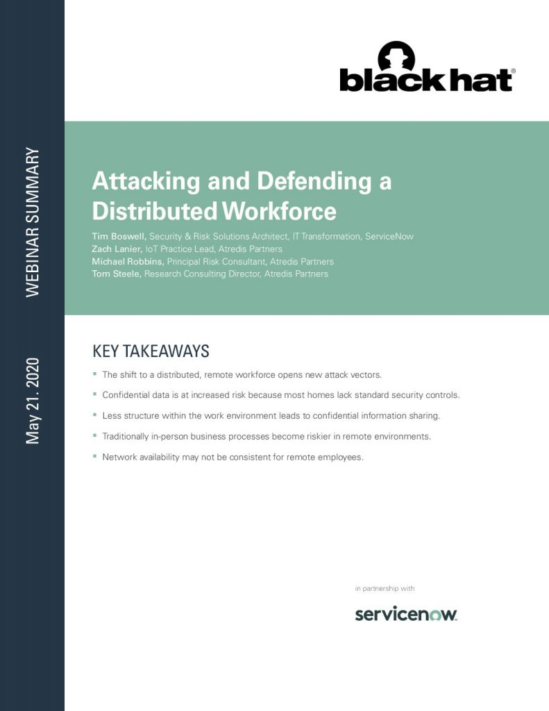 Attacking And Defending A Distributed Workforce