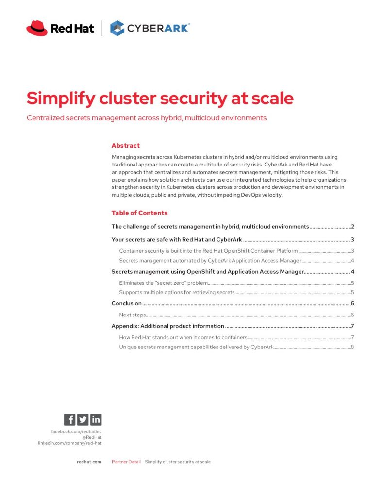 Simplify Cluster Security At Scale: Centralized Secrets Management Across Hybrid, Multicloud Environments