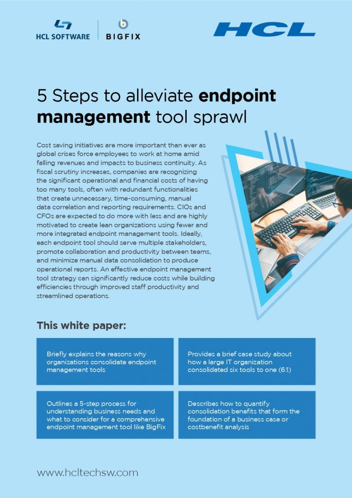 5 Steps to Alleviate Endpoint Management Tool Sprawl