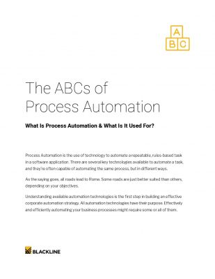 The ABCs of Process Automation