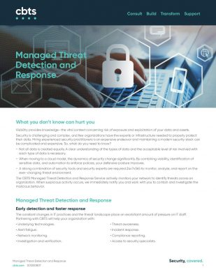 Managed Threat Detection and Response
