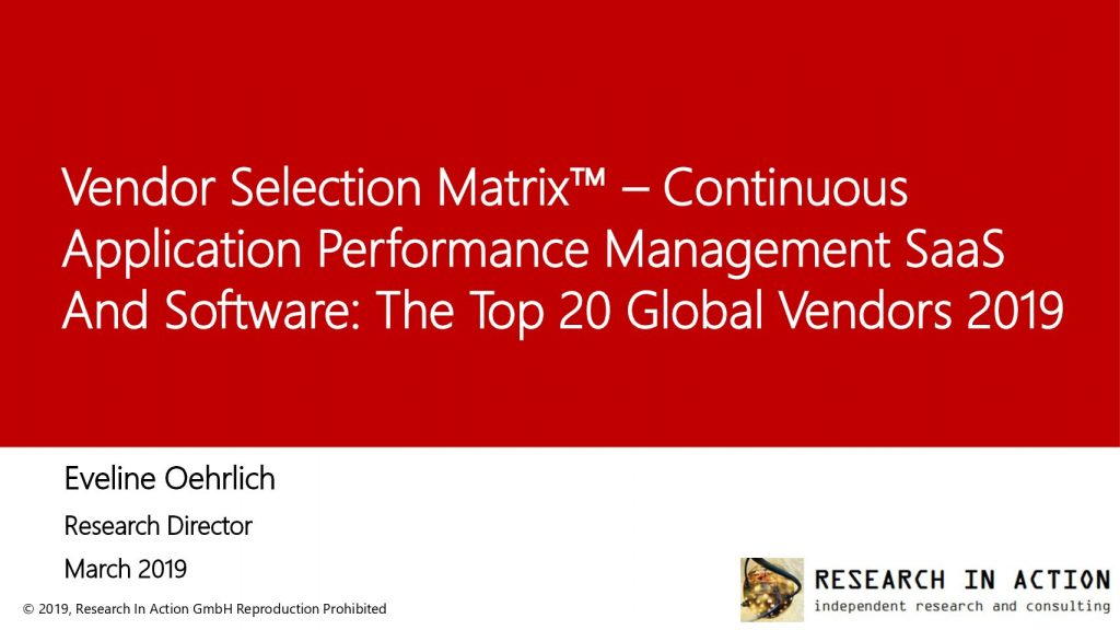 Continuous Application Performance Management SaaS and Software: Market Overview and Top Vendor