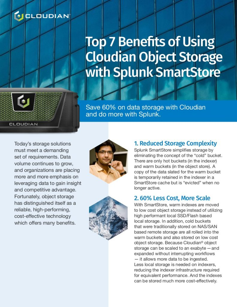 Top 7 Benefits of Using Cloudian Object Storage with Splunk SmartStore