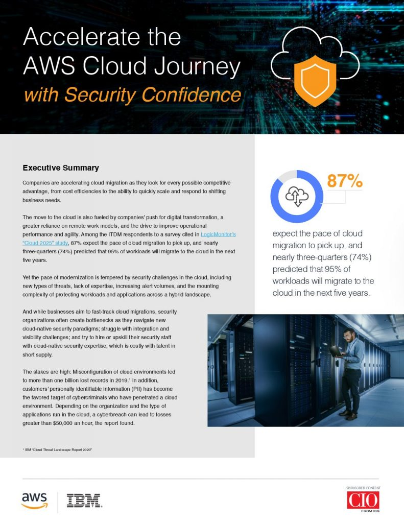 Accelerate the AWS Cloud Journey with Security Confidence