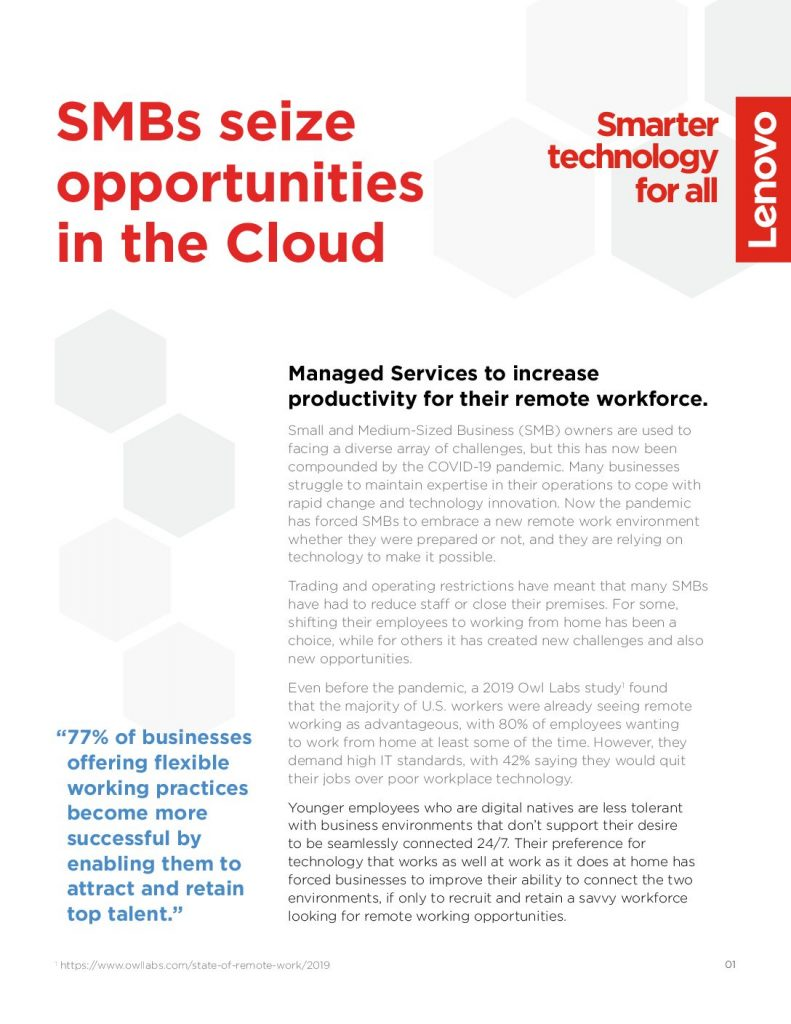 SMB Seize Opportunities in the Cloud