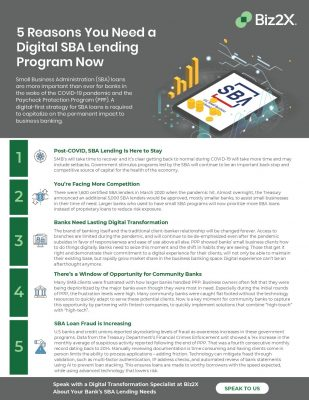 5 Reasons You Need a Digital SBA Lending Program Now