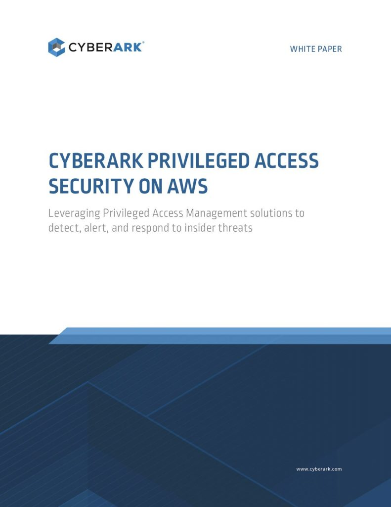 Cyberark Privileged Access Security On AWS