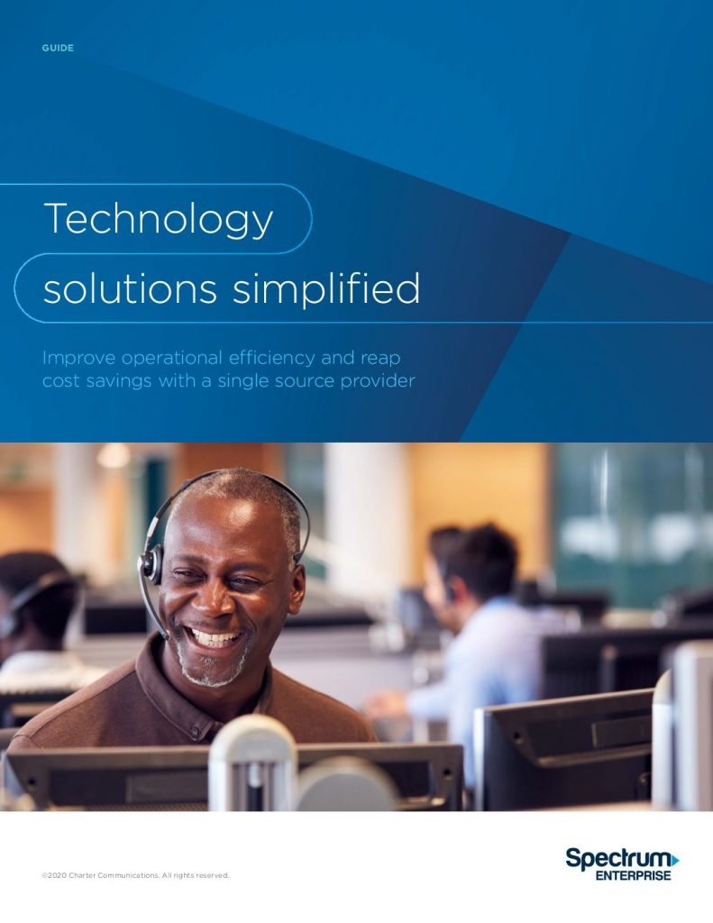 Technology solutions simplified: Improve operational efficiency  and  reap cost savings with a single source provider