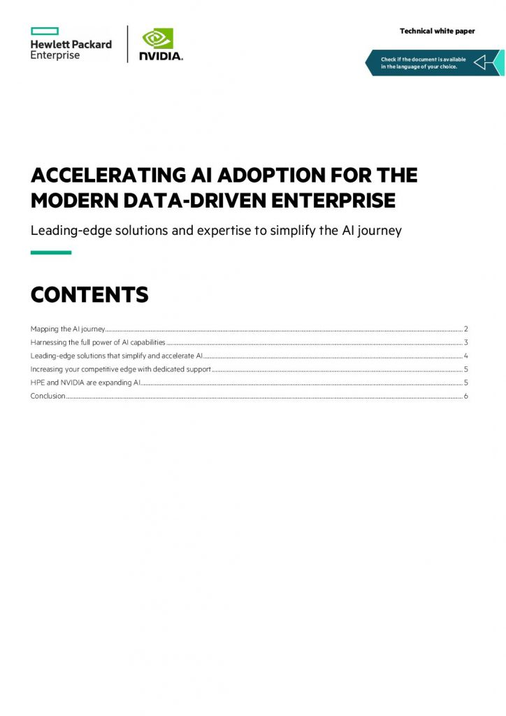 Accelerating AI Adoption for the Modern Data-Driven Enterprise
