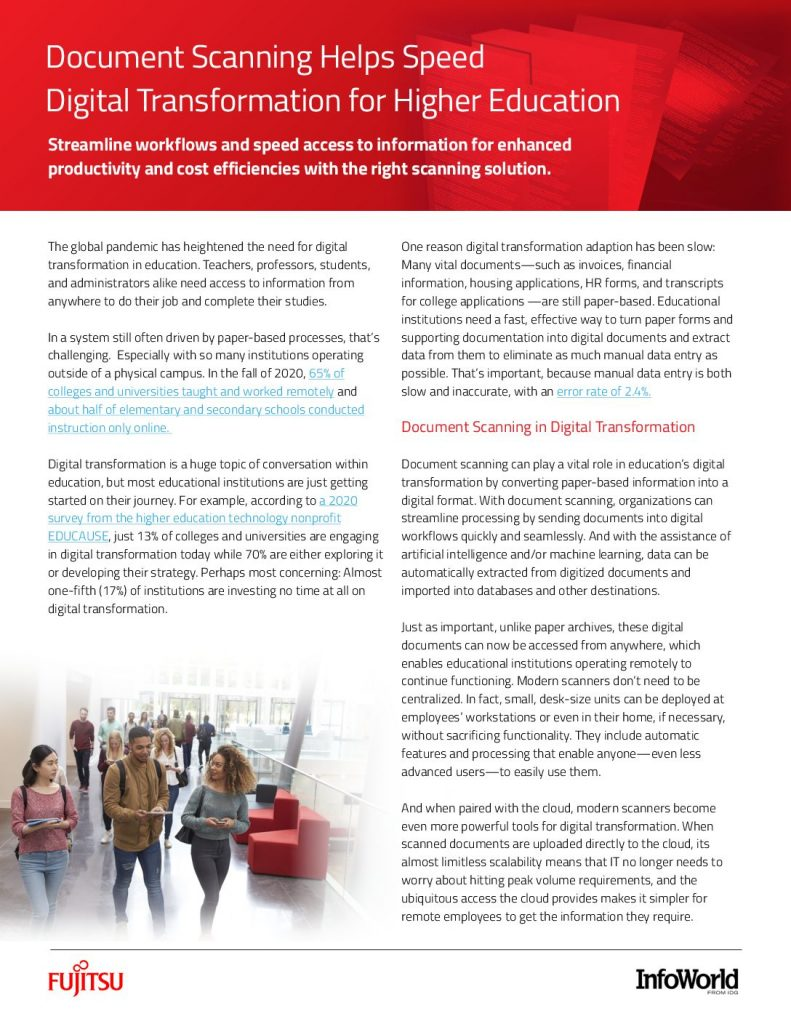 Document Scanning Helps Speed Digital Transformation for Higher Education