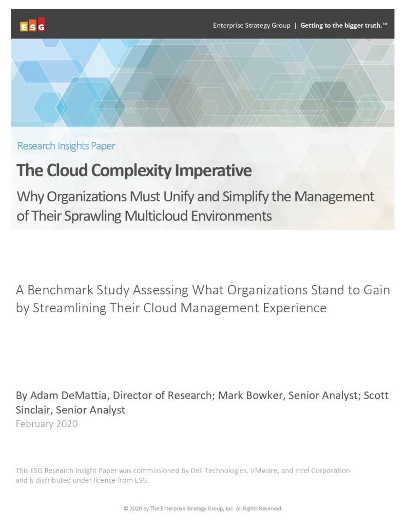 The Cloud Complexity Imperative -Why Organizations Must Unify and Simplify the Management of Their Sprawling Multi-Cloud Environments