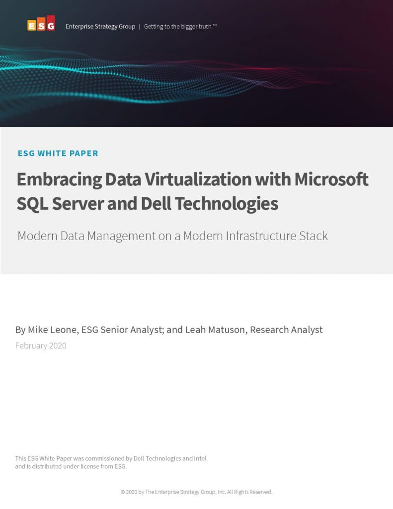 ESG White Paper Dell Technologies With Microsoft SQL Server