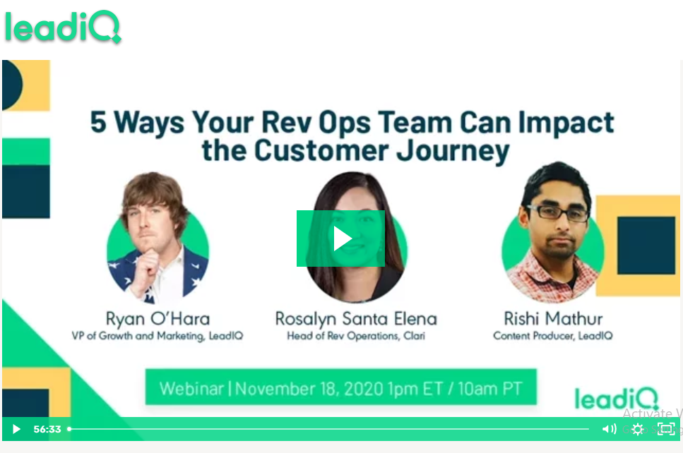 [Webinar] 5 Ways Your RevOps Team Can Impact the Customer Journey