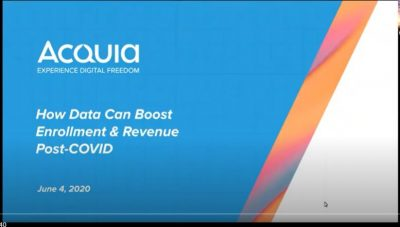 How Data Can Boost Enrollment  and  Revenue Post-COVID