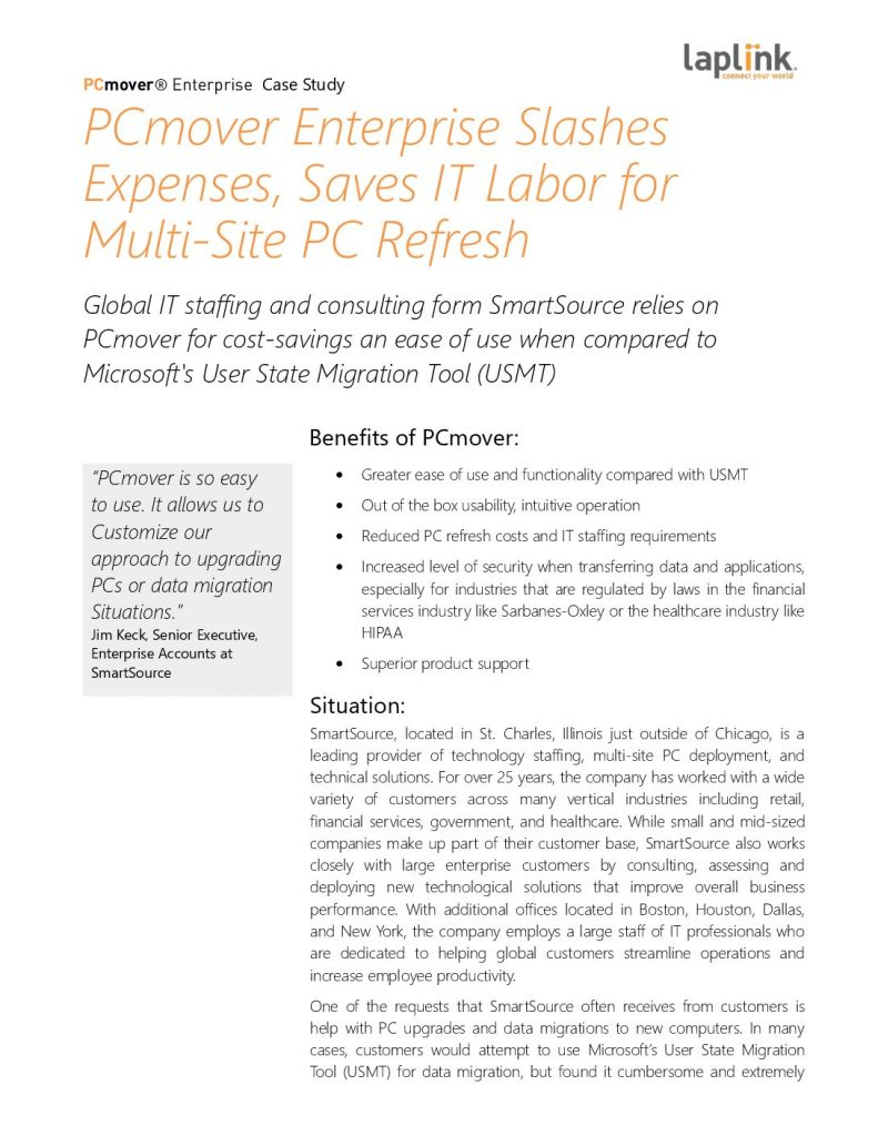 MSP SmartSource Slashed Expenses, Saved IT Labor for Multi-Site PC Refresh