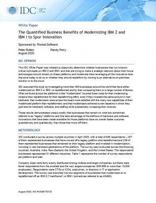 The Quantified Business Benefits of Modernizing IBM Z and  IBM i to Spur Innovation
