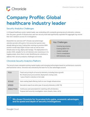 Case Study: Global healthcare industry leader