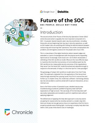 Deloitte + Google Cloud: Future of the SOC