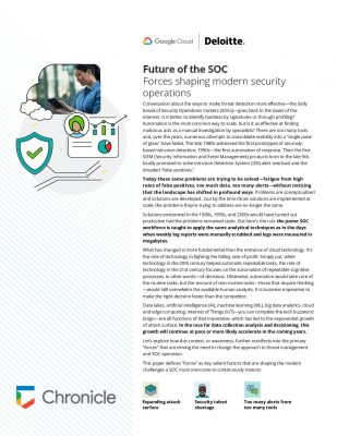 Deloitte   Google Cloud: Future of the SOC Part 2