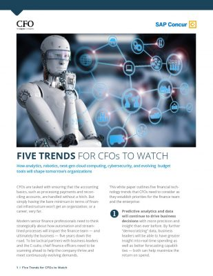 5 Trends for CFOs to Watch