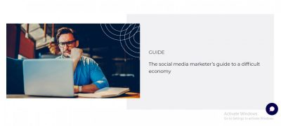 The Social Marketer's Guide to a Difficult Economy
