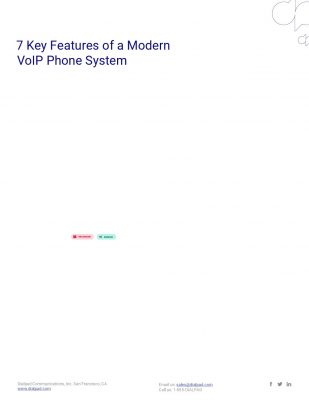 7 Key Features of a Modern VoIP Phone System