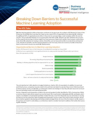 Breaking Down Barriers to Successful Machine Learning Adoption