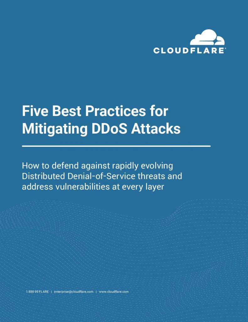 5 Best practices for DDoS Mitigation