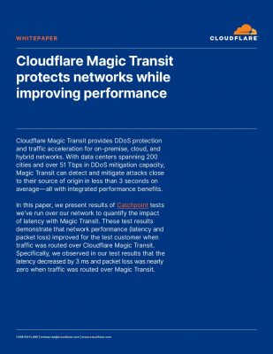 Magic Transit protects networks while also improving performance