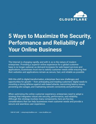 5 Ways to Maximize the Security, Performance and Reliability of Your Online Business