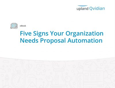 eBook: Five Signs Your Organization Needs Proposal Automation