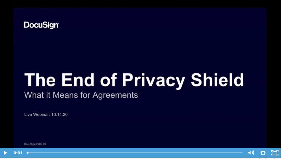 The End Of Privacy Shield – What's Next For Agreements?