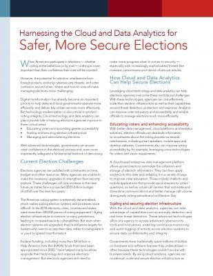 Harnessing The Cloud And Data Analytics For Safer, More Secure Elections