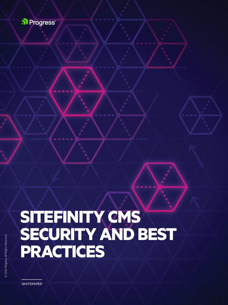 Sitefinity CMS Security And Best Practices