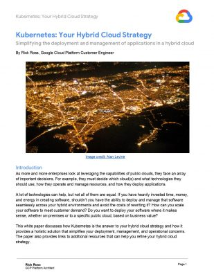 Kubernetes: Your Hybrid Cloud Strategy