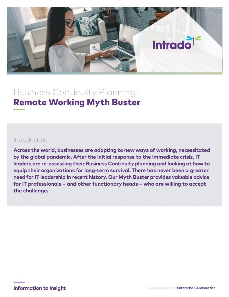 Business Continuity Planning: Remote Working Myth Buster