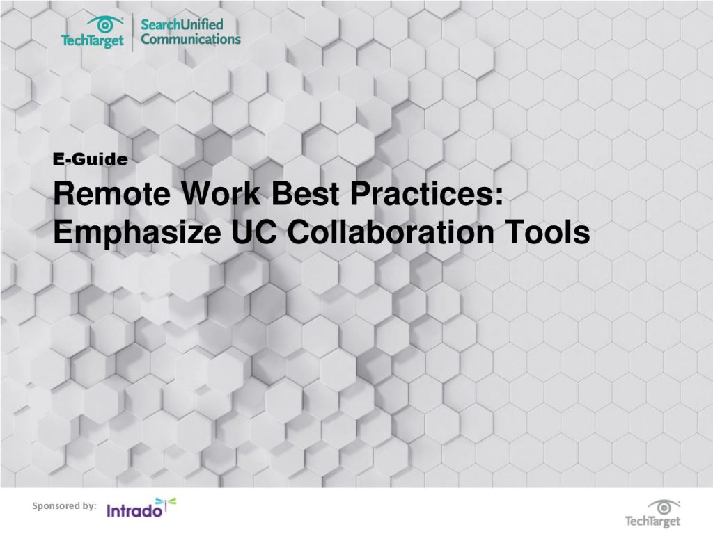 Remote Work Best Practices: Emphasize UC Collaboration Tools