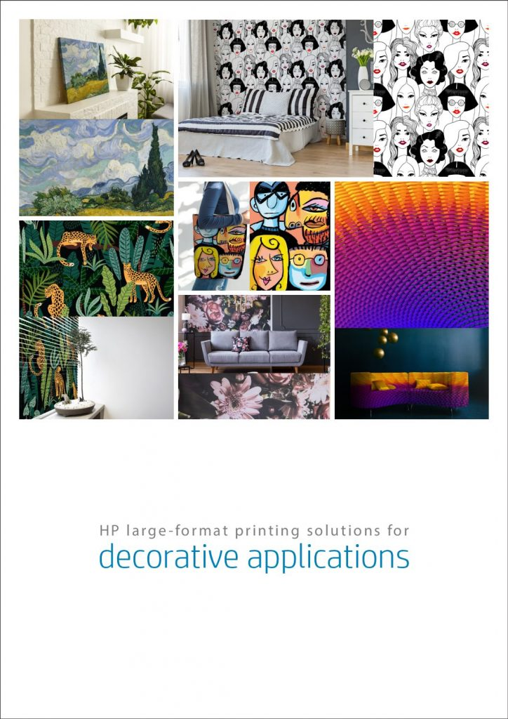 HP large- format printing solutions for decorative applications