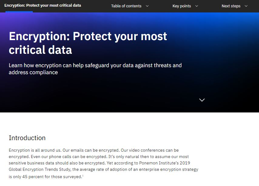 Encryption: Protect your most critical data