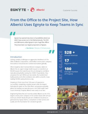 From the Office to the Project Site, How Alberici Uses Egnyte to Keep Teams in Sync