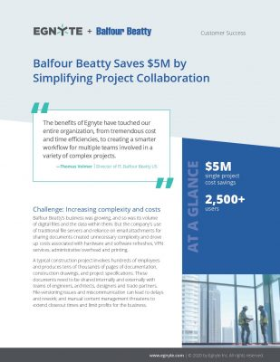 Balfour Beatty Saves $5M by Simplifying Project Collaboration
