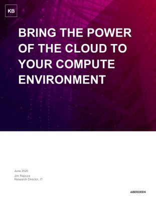 Bring the power of the cloud to your compute environment
