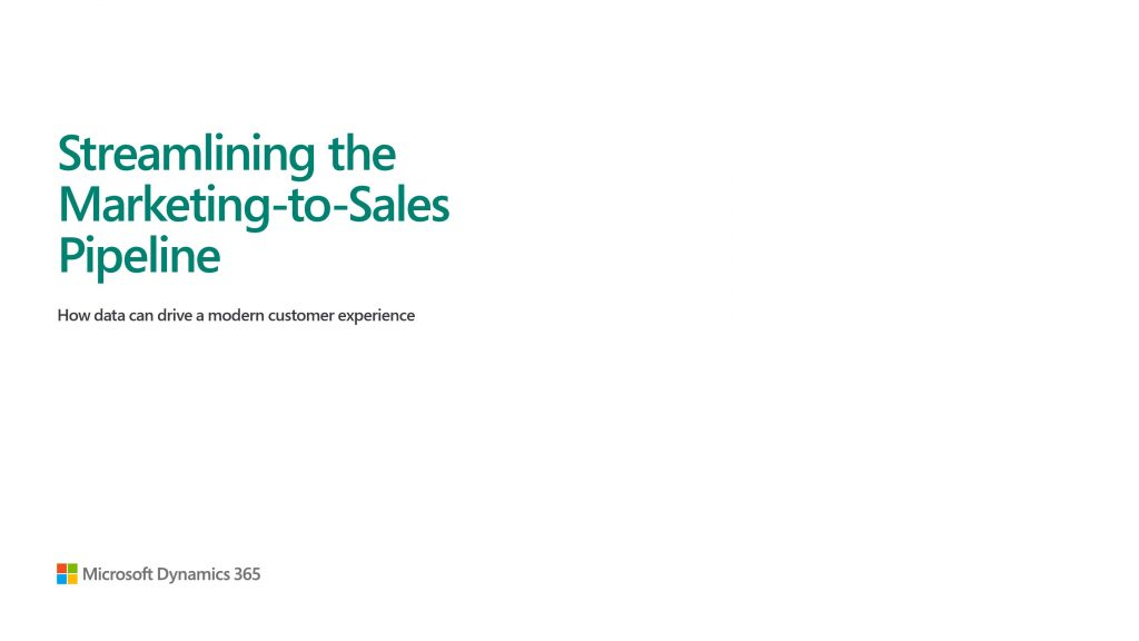 Streamlining the Marketing-to-Sales Pipeline