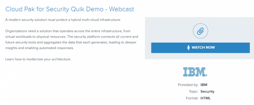 Cloud Pak for Security Quik Demo